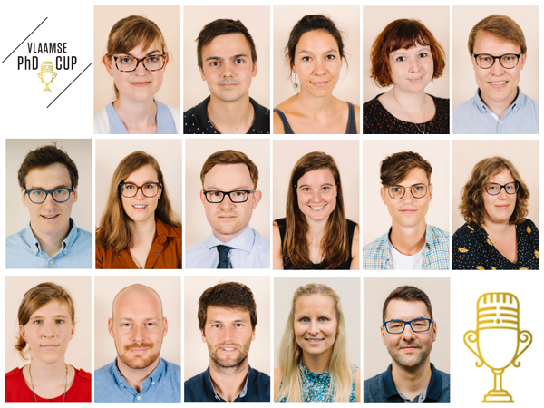 De 16 deelnemers van de PhD Cup 2019